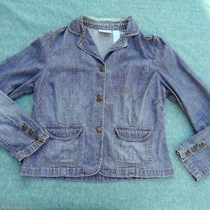 Liz Claiborne Distressed Jean Jacket Large